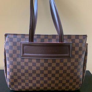 Authentic Louis Vuitton Ebene Damier PM Hand Bag